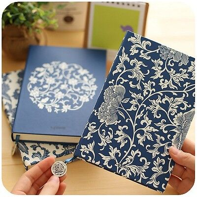 """Blue&White Porcelain"" 1pc Journal Diary Classic Luxury Lines Vintage Planner"