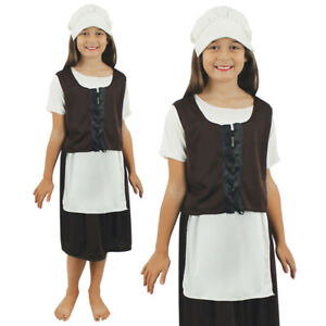 26a2ef88b80fa Image is loading POOR-TUDOR-GIRLS-COSTUME-KIDS-HISTORICAL-VICTORIAN-SCHOOL-