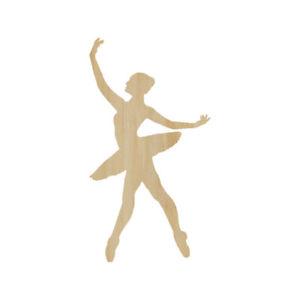 Dance Wall Decor DIY Crafting Shape Wood Laser Cut Shapes Ballerina Cutout Craft Blank Ballerina Wood Shape Wooden Ballet Dancer Shape