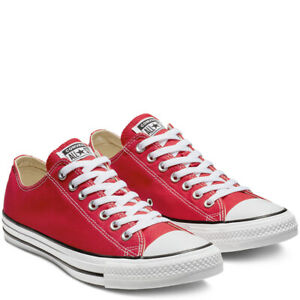 CONVERSE-Chuck-Taylor-All-Star-Classic-Low-Top-Scarpe-Sneakers-RED-M9696C