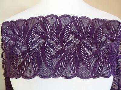 Französische elastische Spitze,Spitzenborte,lace 2 Töne petrol 16cm breit