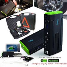 Indigi 12800mAh Heavy Duty Portable Power Bank + Jump Starter + Tire Compressor
