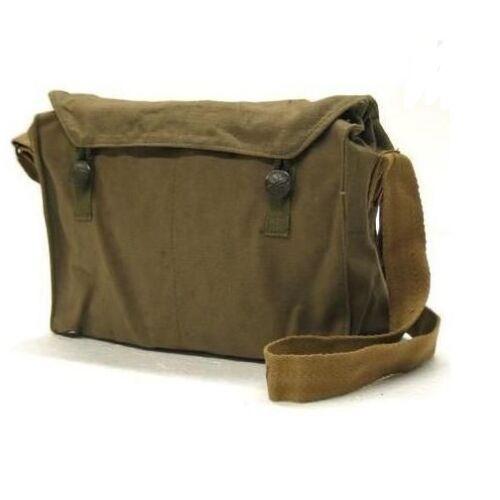 Épaule messenger sac vintage militaires de l/'armée tchèque haversack cartable rétro