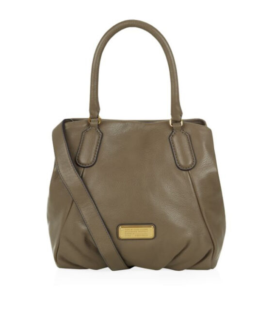 Marc Jacobs Q Fran Leather Satchel Shoulder Bag Purse Puma Taupe for ... 59e3d26336f6a