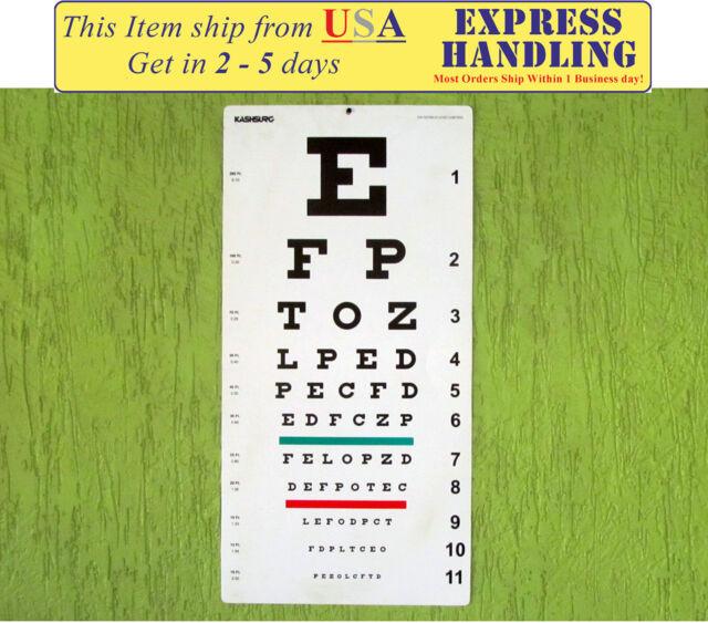 Snellen Distance Vision Eye Chart 20ft Pack Of 1 For Sale Online