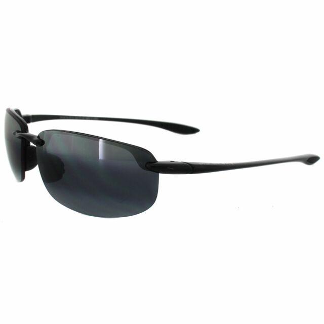 la più grande selezione acquistare Sito ufficiale Occhiali da sole Maui Jim Sport Banyans Uomo Nero lucido Polarizzati 100