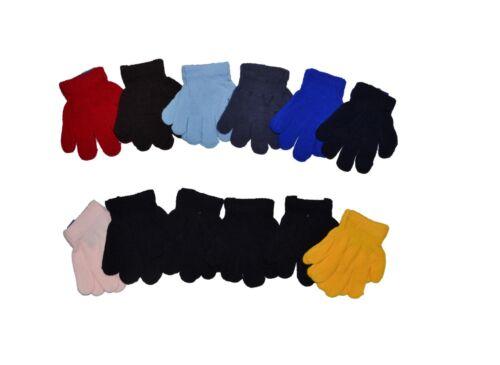 Children Warm Magic 12 Pairs Toddler Winter Gloves Baby Girls Boys Knit Gloves