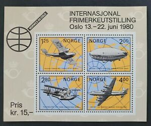"""Norway 1979 / International Stamp Exhibition """"NORWEX 80"""" - Aircraft / s/s mnh"""
