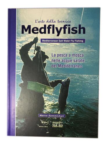 """VOLUME LIBRO /""""MEDFLYFISH/"""" COSTRUZIONE MOSCHE PESCA FLY FISHING PESCA IN MARE"""