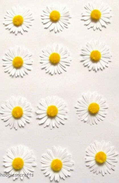 EK SUCCESS MARTHA STEWART 3-D STICKERS FLOWERS FLORAL DIMENSIONAL LARGE DAISIES