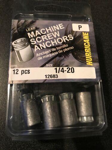 "Lead Machine Screw Anchors 1//4""-20 12"