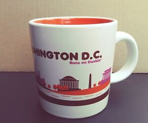2013 DUNKIN DONUTS WASHINGTON D.C. Runs on Dunkin Coffee Cup Mug NICE!