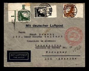 Germany May 26 1935 Airmail CoverTo Paraguay / SC# C54 100pf - L17412