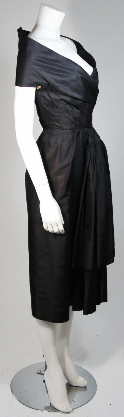 CEIL CHAPMAN  Black Cocktail Dress with Draped De… - image 6