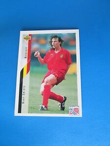 SMIDTS-BELGIQUE-BELGIE-Carte-Card-UPPER-DECK-USA-94-1994-panini