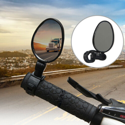360° Rotate Bike Bicycle Side Rear View Handlebar Mount Safety Rearview Mirror