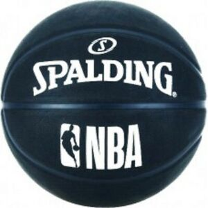 Spalding-NBA-Outdoor-Basketball-Size-7-Adult-BLACK-Basket-Ball-Inflated-NEW-2019