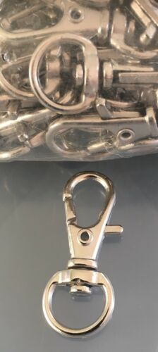 Platinum Coloured Clip Connector Swivel X 15