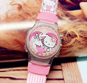 Girl Kid Child Pink Hello Kitty Unicorn Pony Digital Wrist Watch