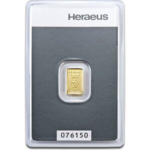1 G Heraeus Swiss Solide Fine 999.9 Gold Bullion Bar Certifié Scellé-afficher Le Titre D'origine Rdzgzwa3-07215801-677868441
