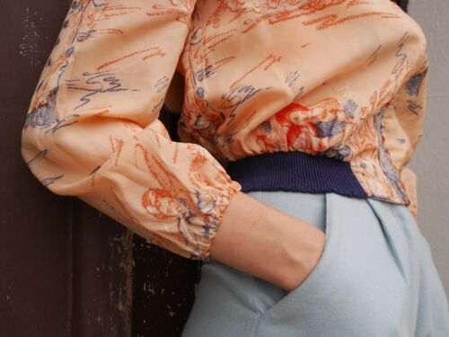 Tanzszene Blouson S Apricot Jacke Vintage Xs Art Jacket 70s Wearable 70er True OCFwp0cCq
