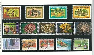 1982-PNG-Annual-Stamp-Pack-All-stamps-shown-amp-Complete-MUH-MNH-as-Purchased