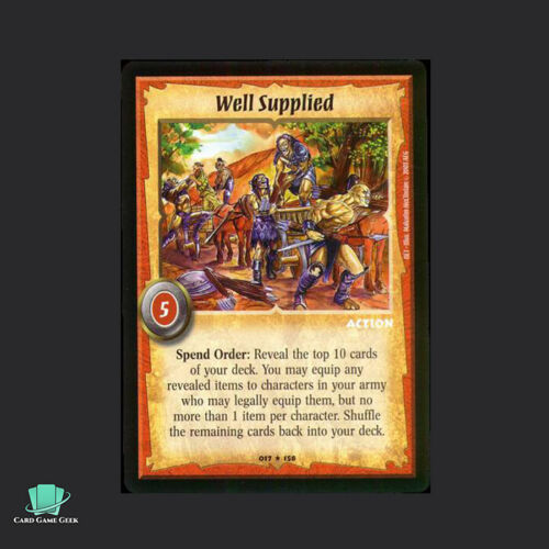 Warlord Saga of the Storm SotS CCG Well Supplied