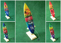 25 Cm Deko Surfboard Mit Holzständer Airbrush Surfer Bali Delfin Tempel Palmen