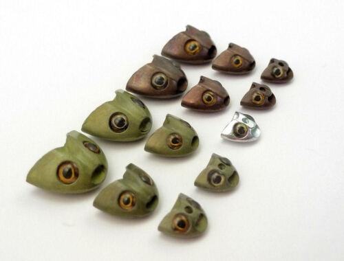 Sculpin Helmet Fish Skull USA 3 Farben Auswahl 8 Stück Farbe Sculpin MINI