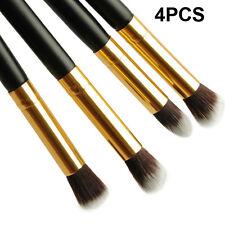 4pcs Hot SaleBlack-Gold Eye Blending Eyeshadow Detailer Crease Makeup Brush Set