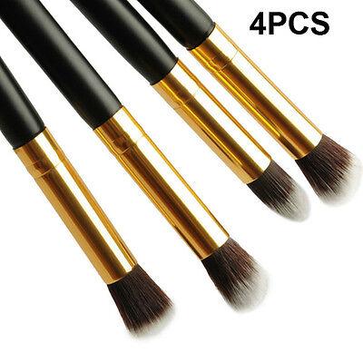 4PCS Pro Makeup Cosmetic Tool Eyeshadow Eye Shadow Foundation Blending Brush Set