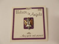 Lot Of 2 Buffalo Jewelry Believe In Angels Pins April, Crystal