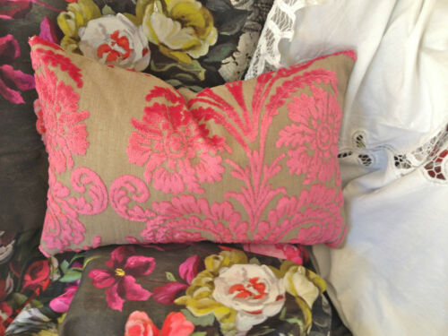 DESIGNERS GUILD FABRIC CUT VELVET CUSHION COVER OMBRIONE VARIOUS SIZES