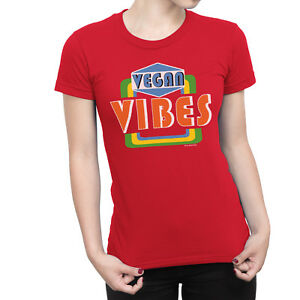 Image Is Loading VEGAN Vibes Ladies T Shirt Hipster Veggie Vegetarian