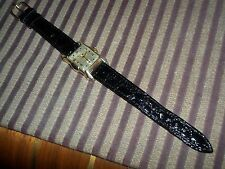 BENRUS Men's Wrist Watch, patina, hand winding, beautiful bezel design