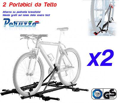 PORTABICI DA TETTO PERUZZO TOUR PROFESSIONAL COLORE NERO ART 309