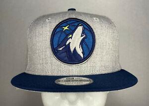 New Era NBA Minnesota Timberwolves Heather Gray 2-Tone 9FIFTY Snapback Hat, New