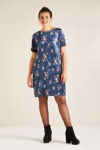 9a8da182923 Image is loading Yumi-Curves-Velvet-Floral-Tunic-Dress-UK-26-
