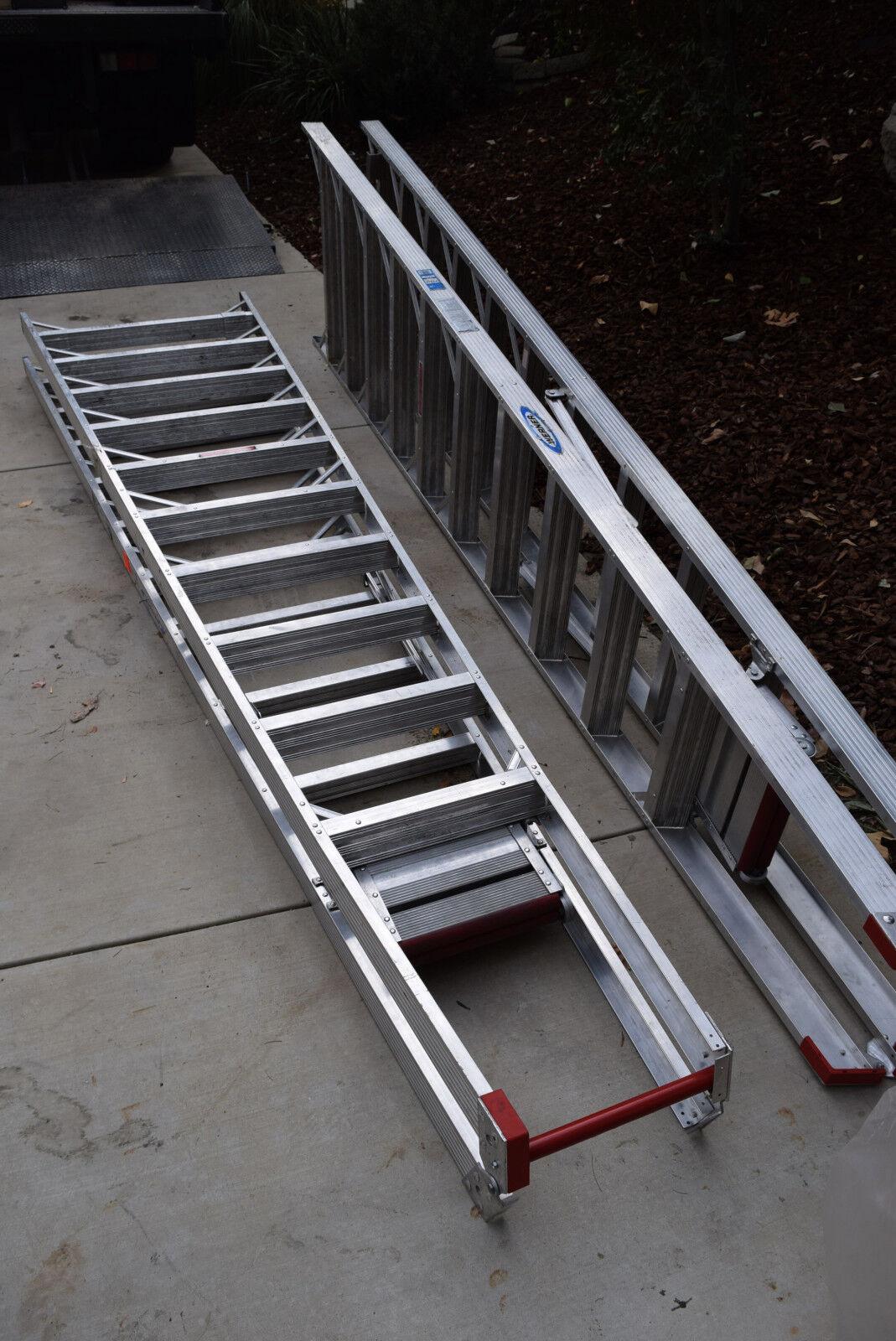 Qty2 Werner PT310 Step Ladder HD Aluminum Safety Guard Platform Craft