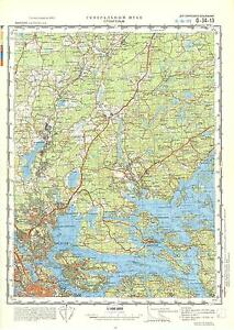 Russian Soviet Military Topographic Maps STOCKHOLM Sweden - Military topographic maps