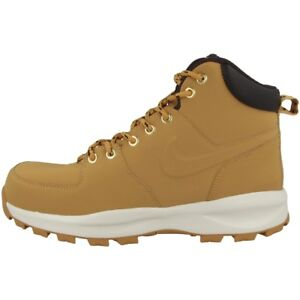 Details about Nike Manoa Leather Boots Boots Leather Shoes Haystack Brown 454350 700 Mandara show original title