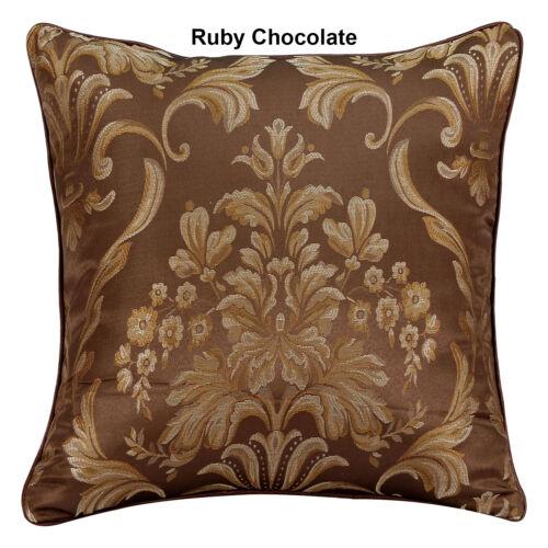 "Nuevo Jacquard Decorativa floral del damasco Cushion Covers o llena 18/""x18/"""