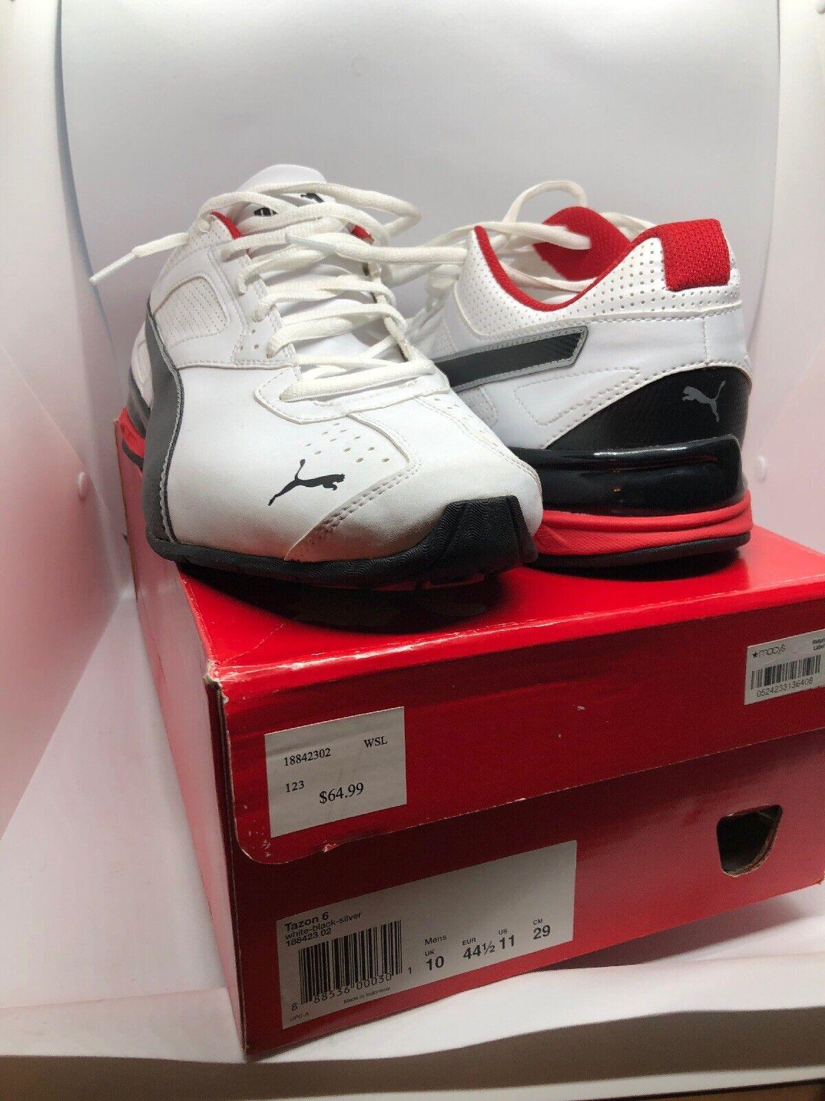 PUMA Tazon 6 Para hombres Zapatos Zapatillas Running 11 blancooo Negro Rojo Nuevo Nuevo En Caja
