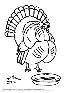 Details about Turkey Coloring Page PDF, Turkey Coloring Sheet, Turkey to  Color