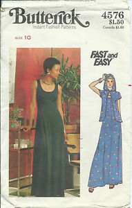 B-4576-sewing-pattern-70-039-s-Hooded-Evening-JACKET-amp-DRESS-sew-retro-chic-size-10