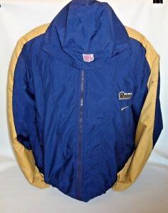 hot sale online 039e3 5f1b9 Details about Nike NFL Team Jacket Los Angeles Rams Size XXL St Louis  hooded Winter Parka