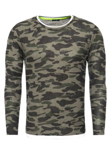 "KEY Largo Herren Langarmshirt /""Lothar/"" MLS00048 olive camouflage"