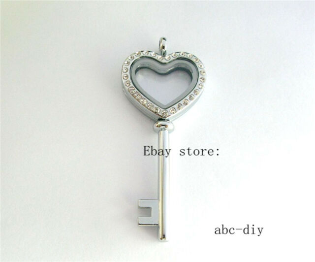 1pcs key shape Floating Living Memory Locket Fits for Floating Charms no charms