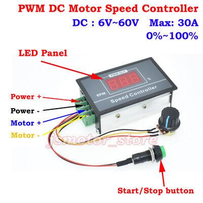 DC 12V 24V 36V 48V 220 180 V Motor Speed Controller Switch 6A Regulator