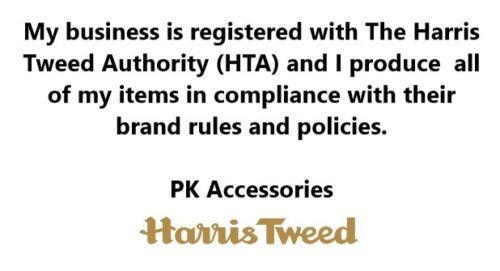 HARRIS TWEED /& LIBERTY PRINT GREY BROWN HERRINGBONE BOW TIE FAUX POCKET HANKIE